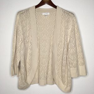 CJ Banks Beige and Gold Knit Shrug/Sweater Size 1X